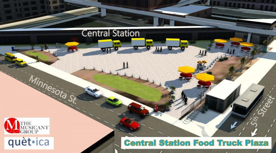 Central Station Food Truck Plaza Unveiling at May Leadership Saint Paul Workshop